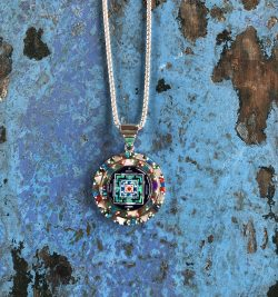 Native American Kala Mandala Pendant Necklace